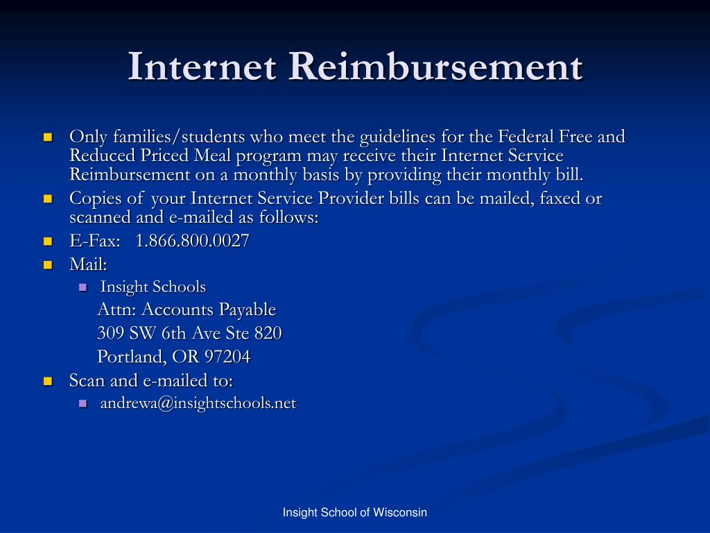 Internet Reimbursement