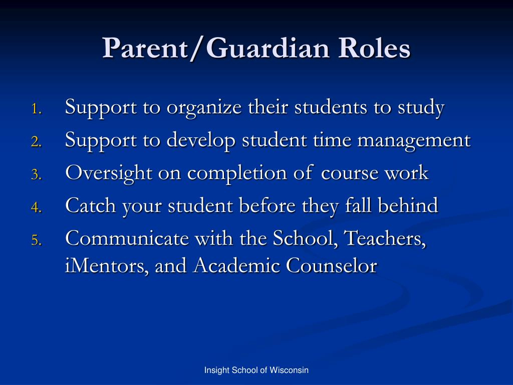 Parent/Guardian Roles