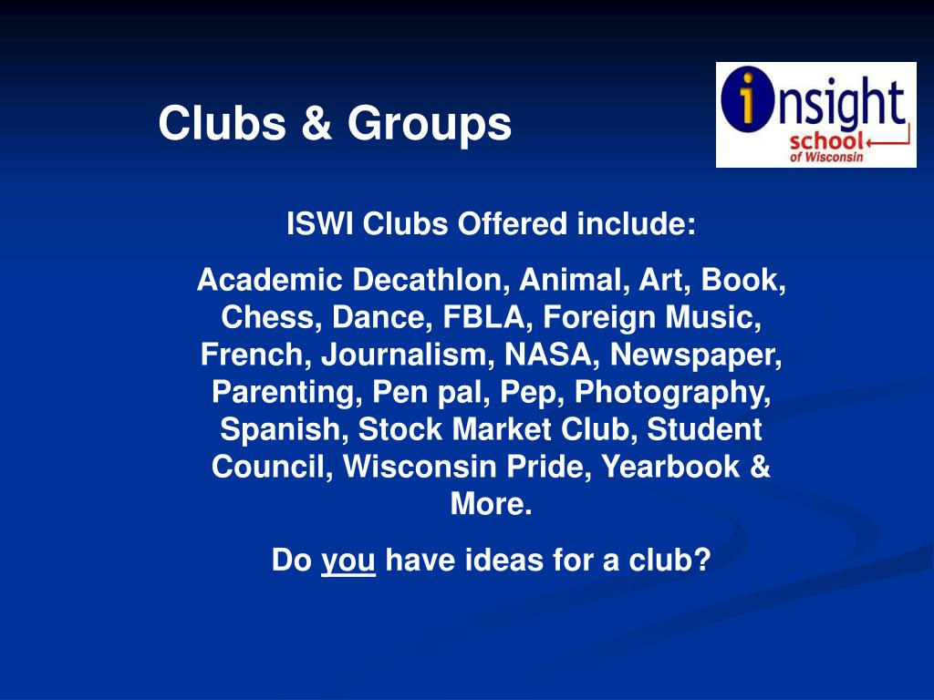Clubs & Groups