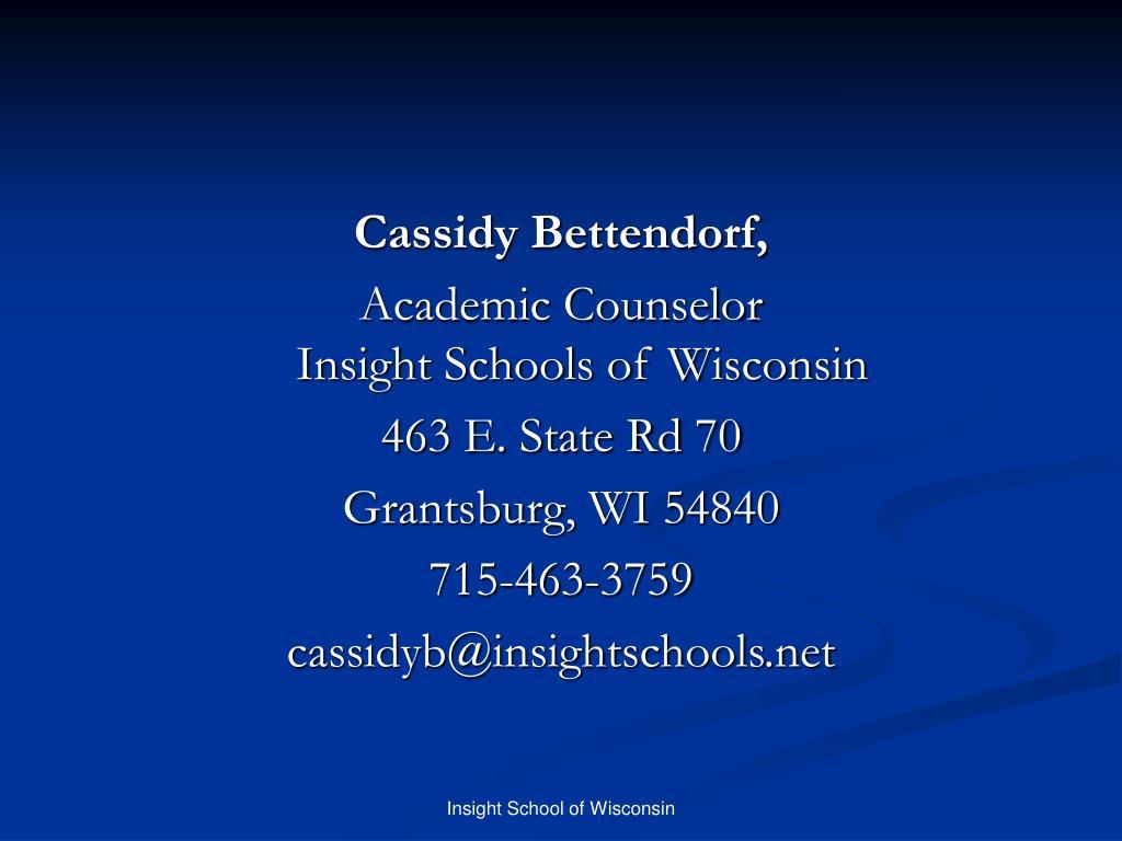 Cassidy Bettendorf,