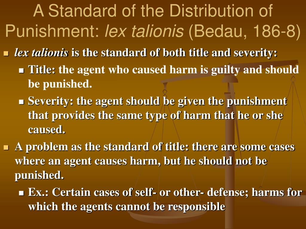 A Standard of the Distribution of Punishment: