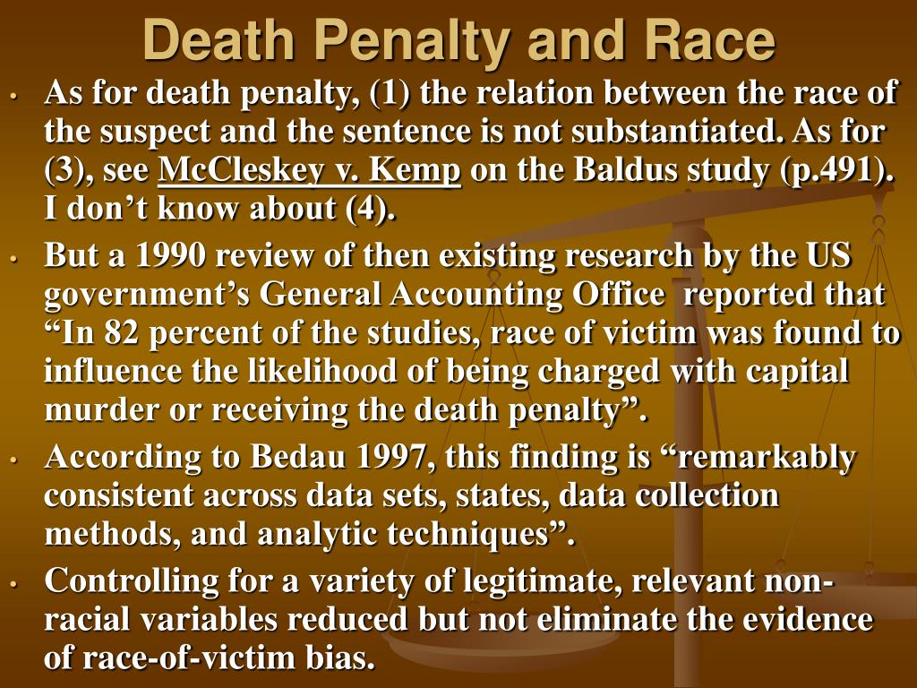 Death Penalty and Race