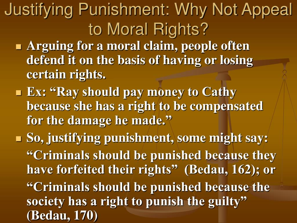 Justifying Punishment: Why Not Appeal to Moral Rights?
