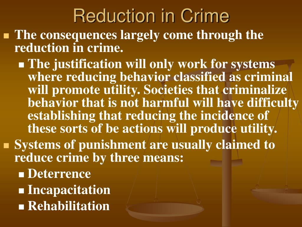 Reduction in Crime