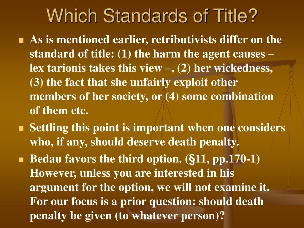 Which Standards of Title?