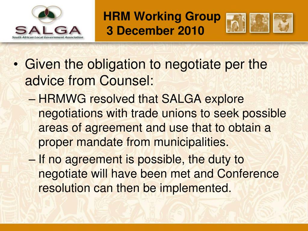 HRM Working Group