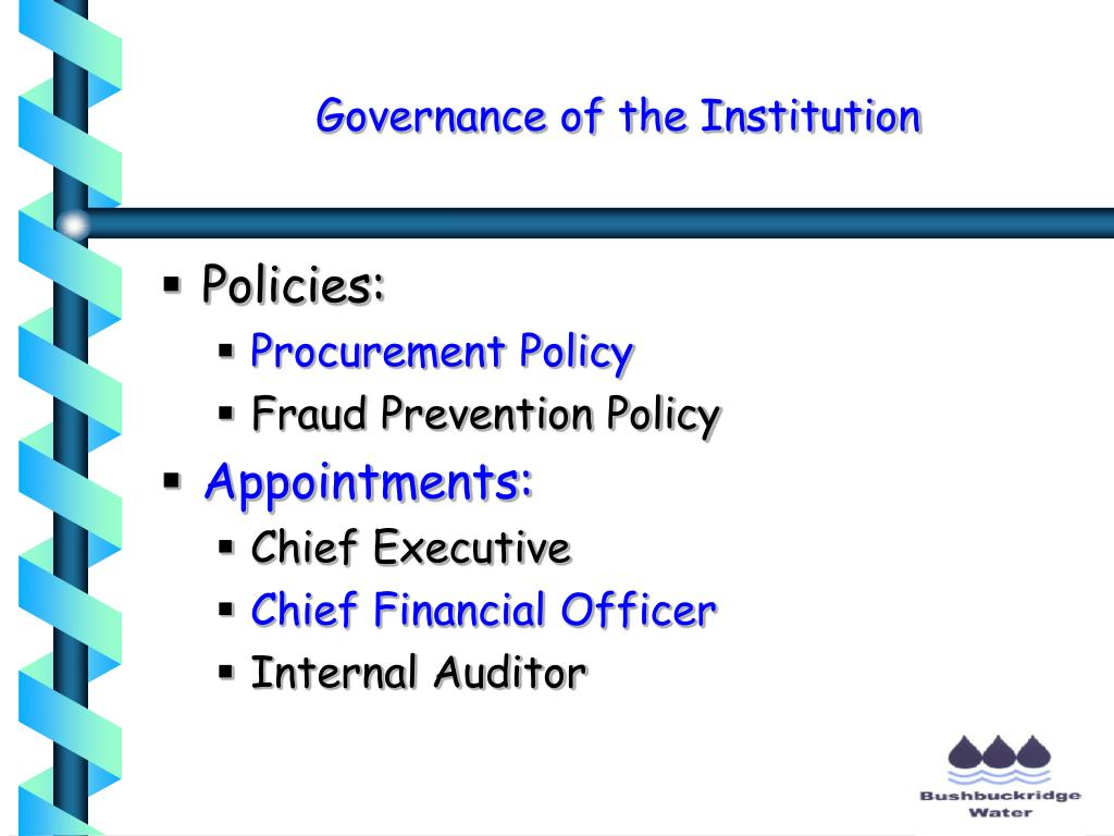 Governance of the Institution