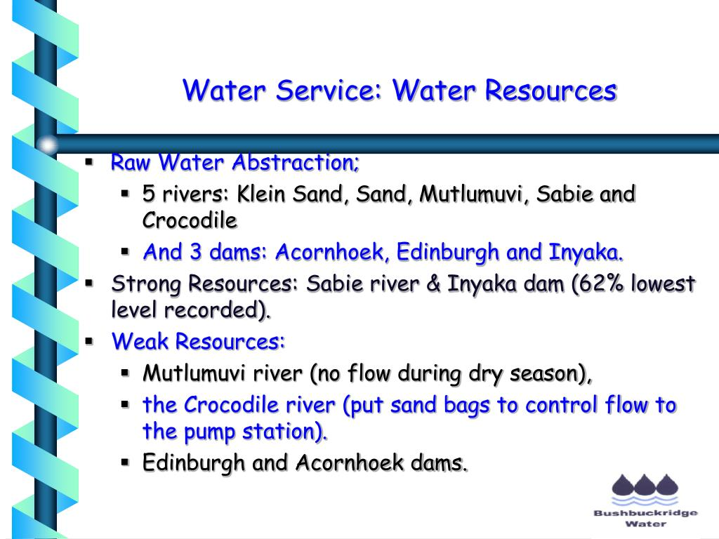 Water Service: Water Resources