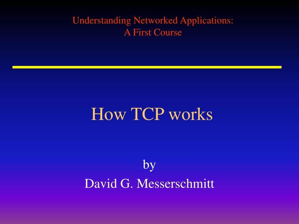 How TCP works