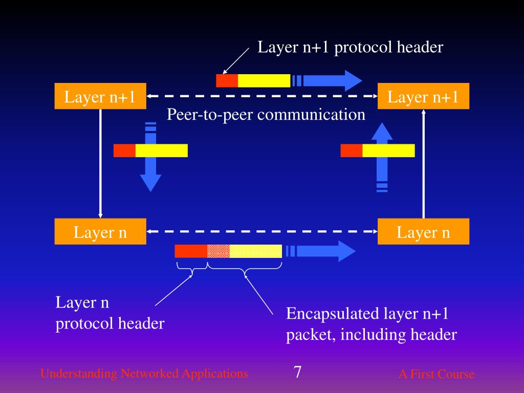 Layer n+1 protocol header