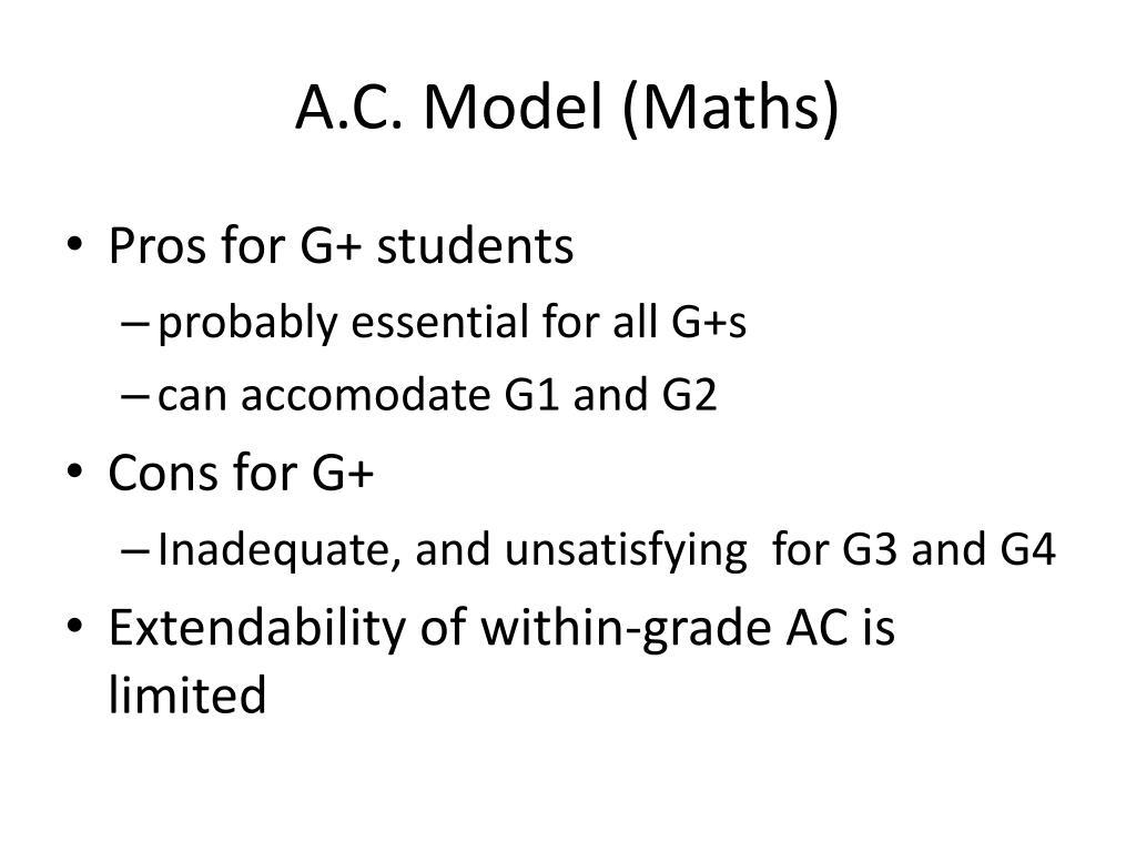 A.C. Model (Maths)