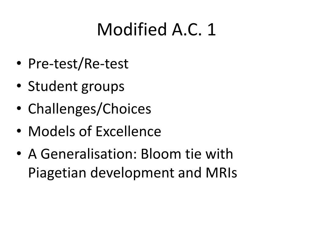 Modified A.C. 1
