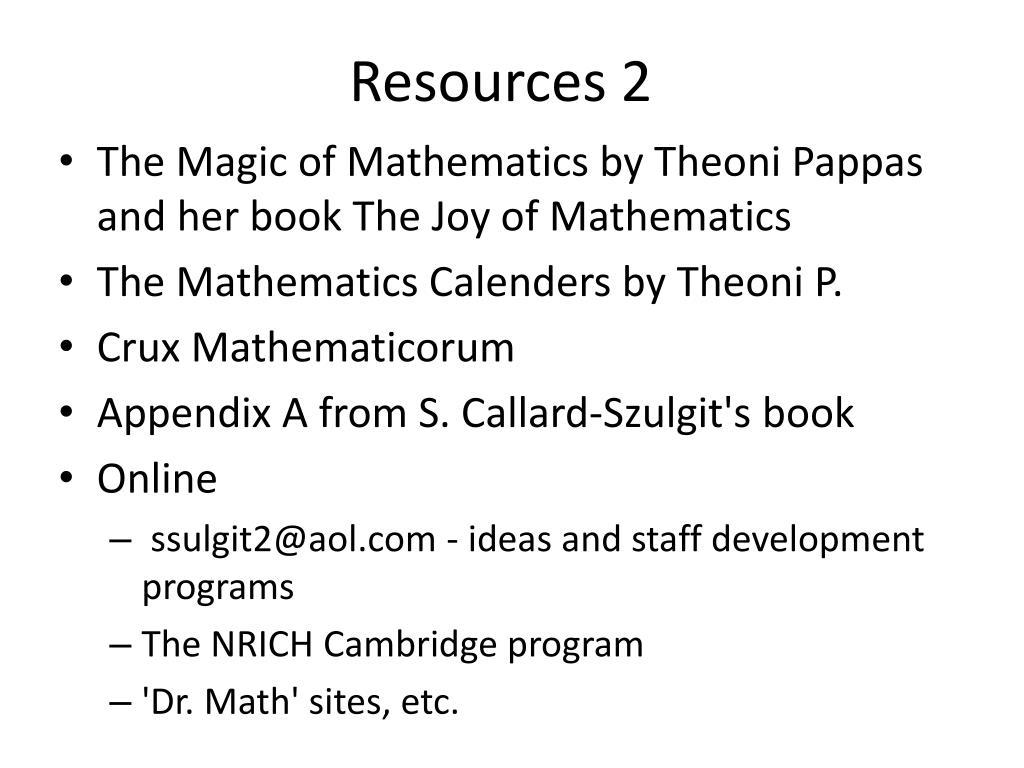 Resources 2