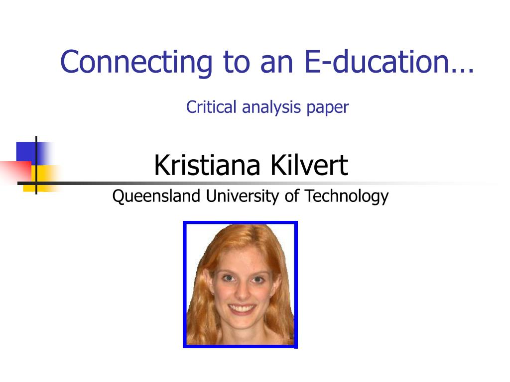 Connecting to an E-ducation…
