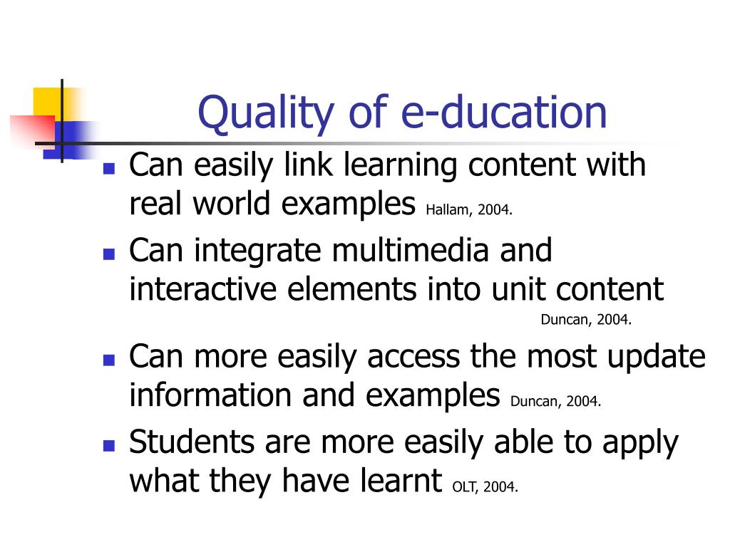 Quality of e-ducation