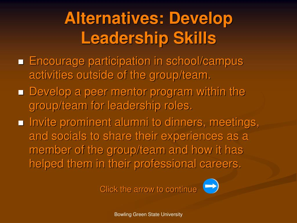 Alternatives: Develop