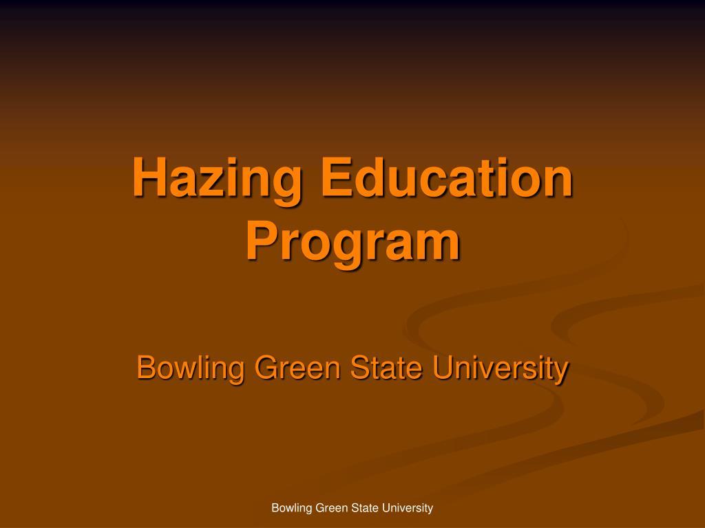 Hazing Education Program