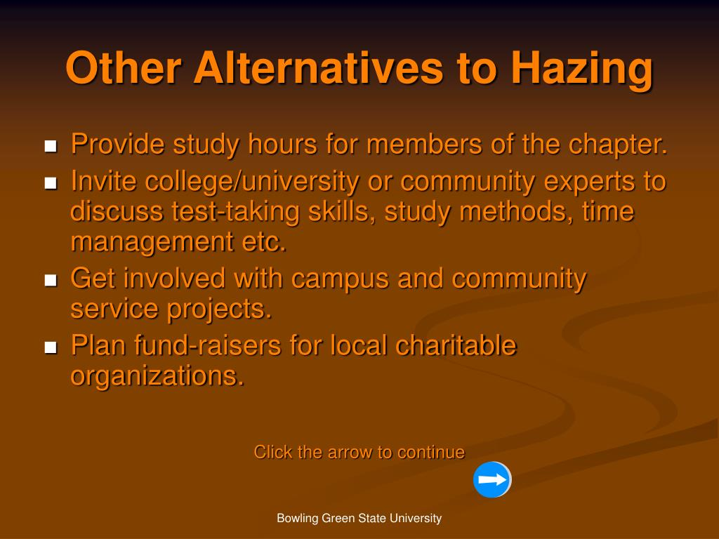 Other Alternatives to Hazing