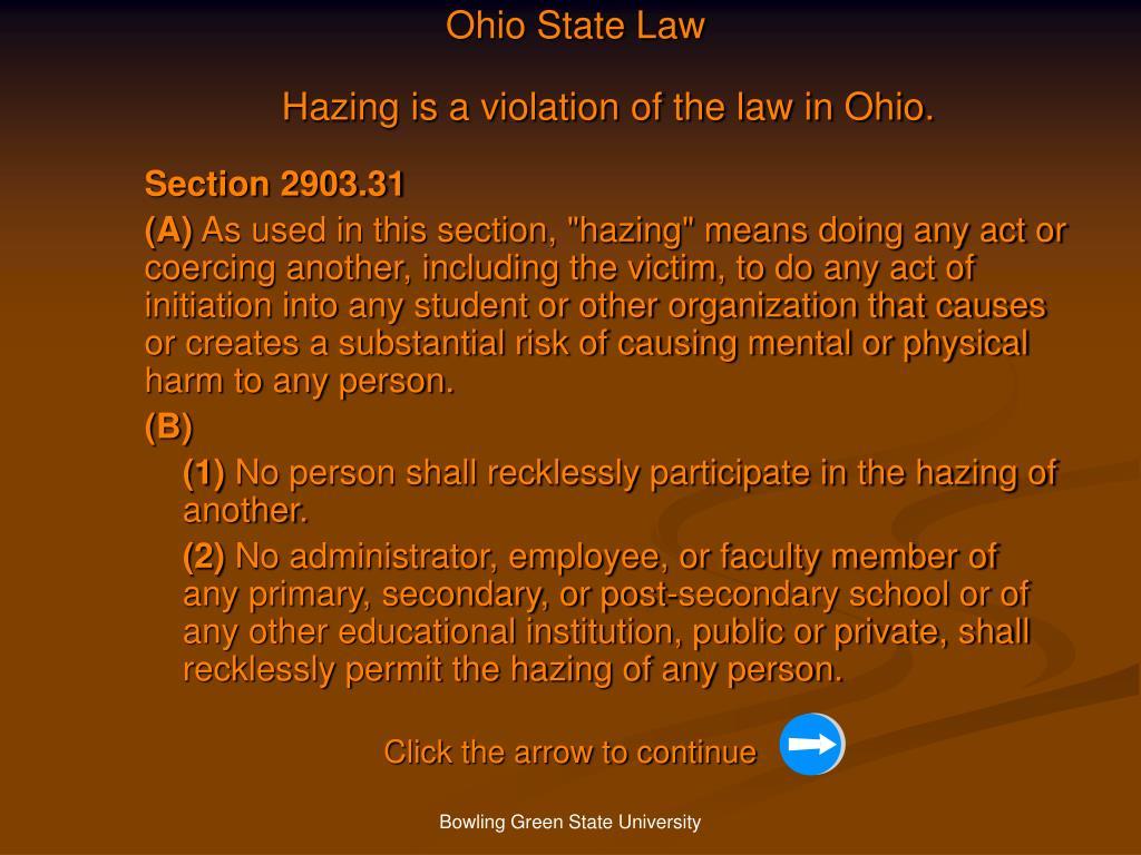 Ohio State Law