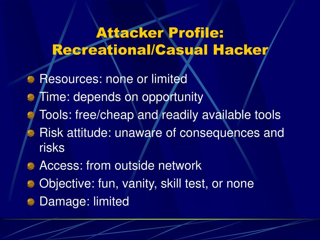 Attacker Profile: