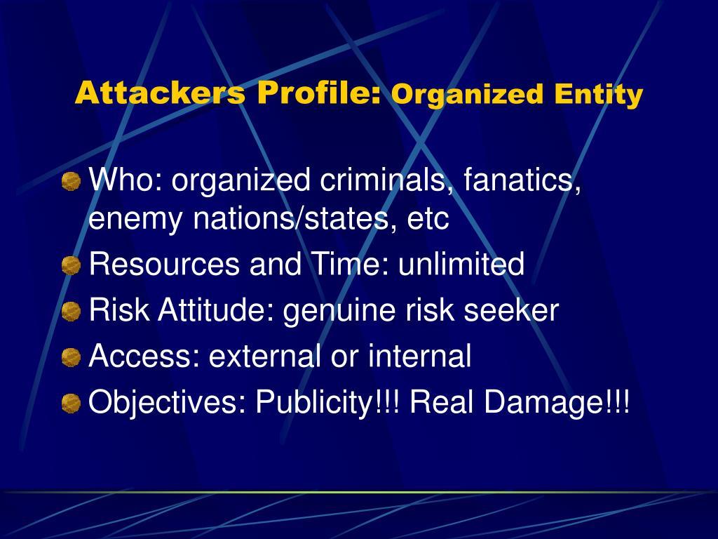 Attackers Profile: