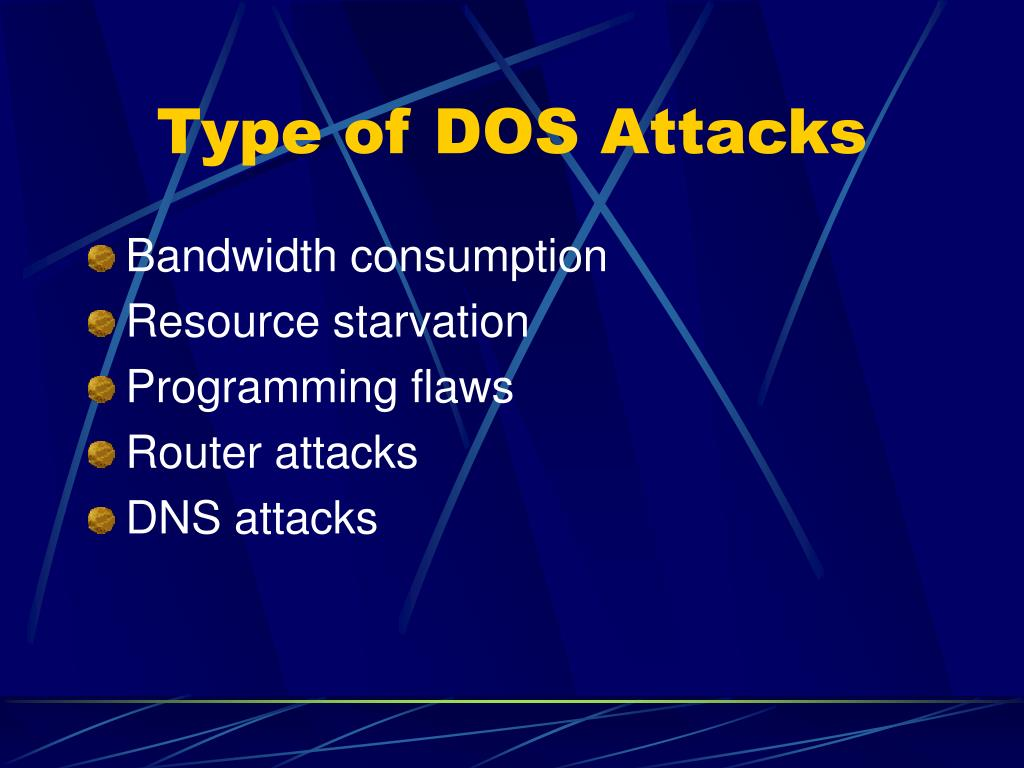Type of DOS Attacks