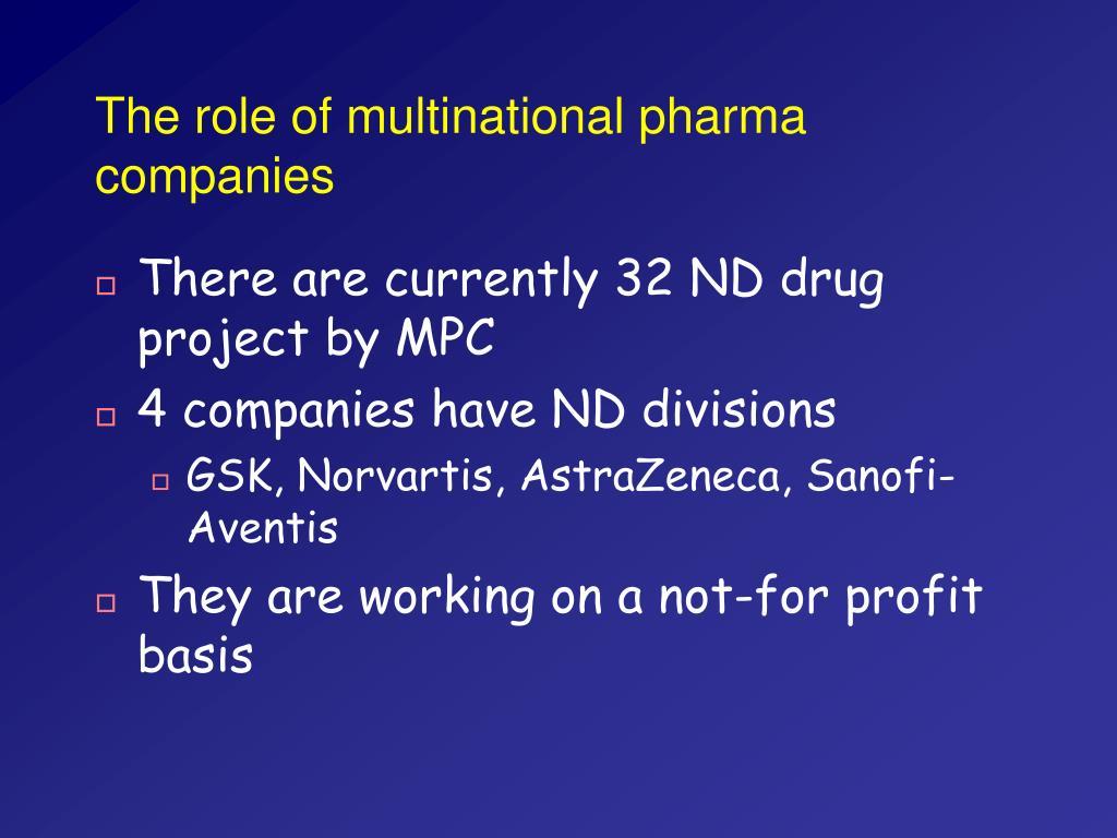 The role of multinational pharma companies