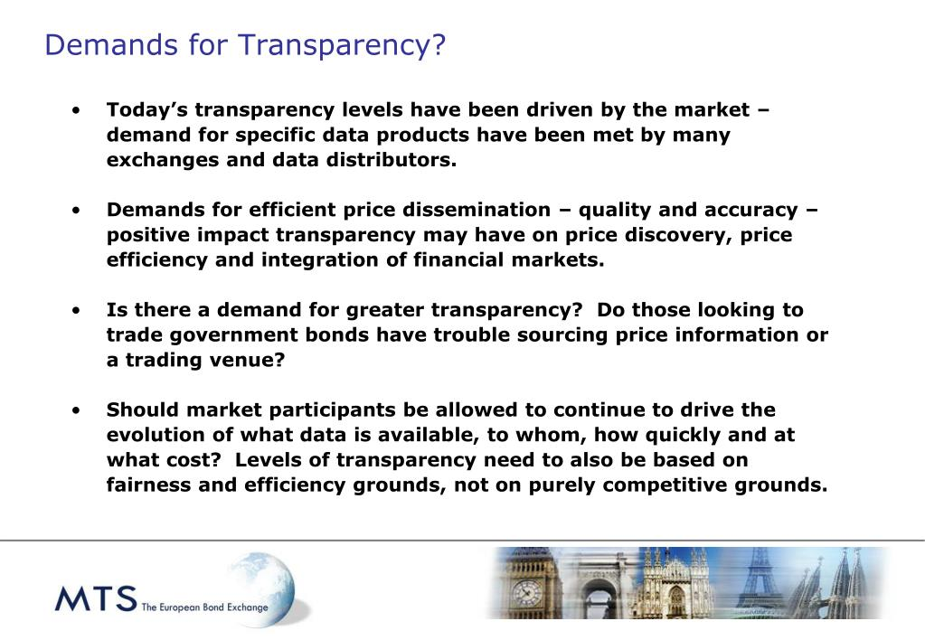 Demands for Transparency?