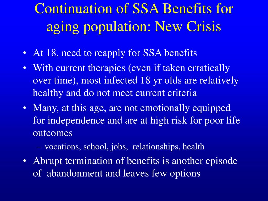 Continuation of SSA Benefits for aging population: New Crisis