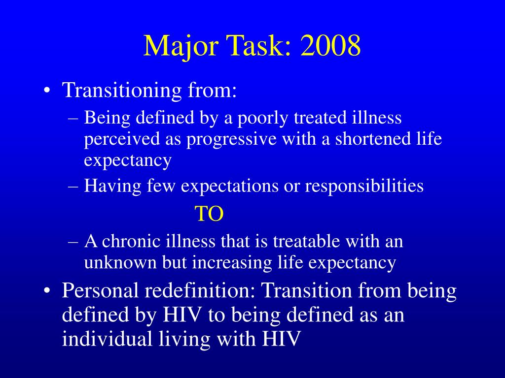 Major Task: 2008
