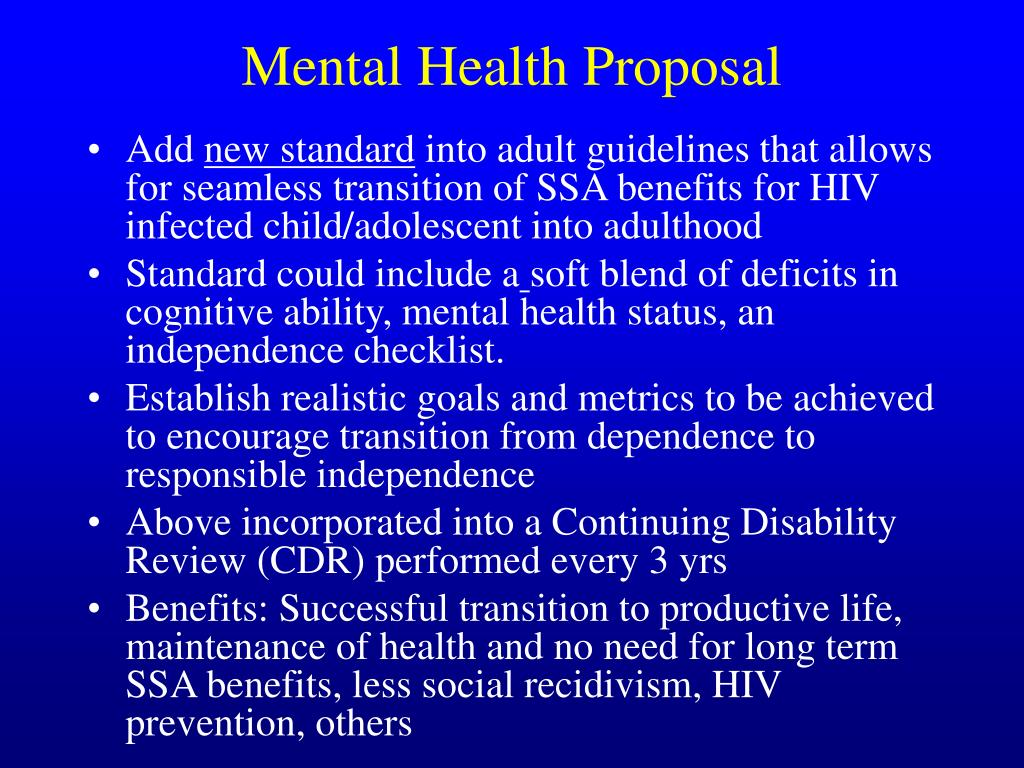 Mental Health Proposal