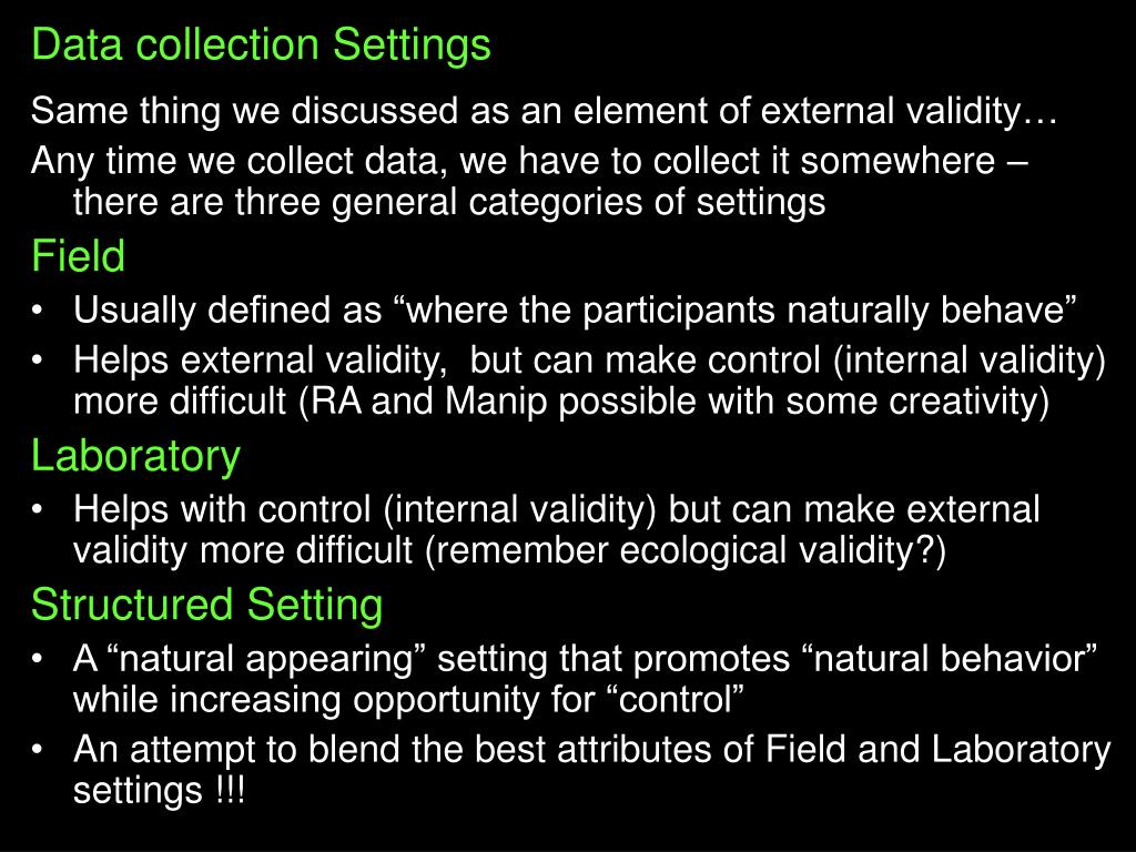 Data collection Settings