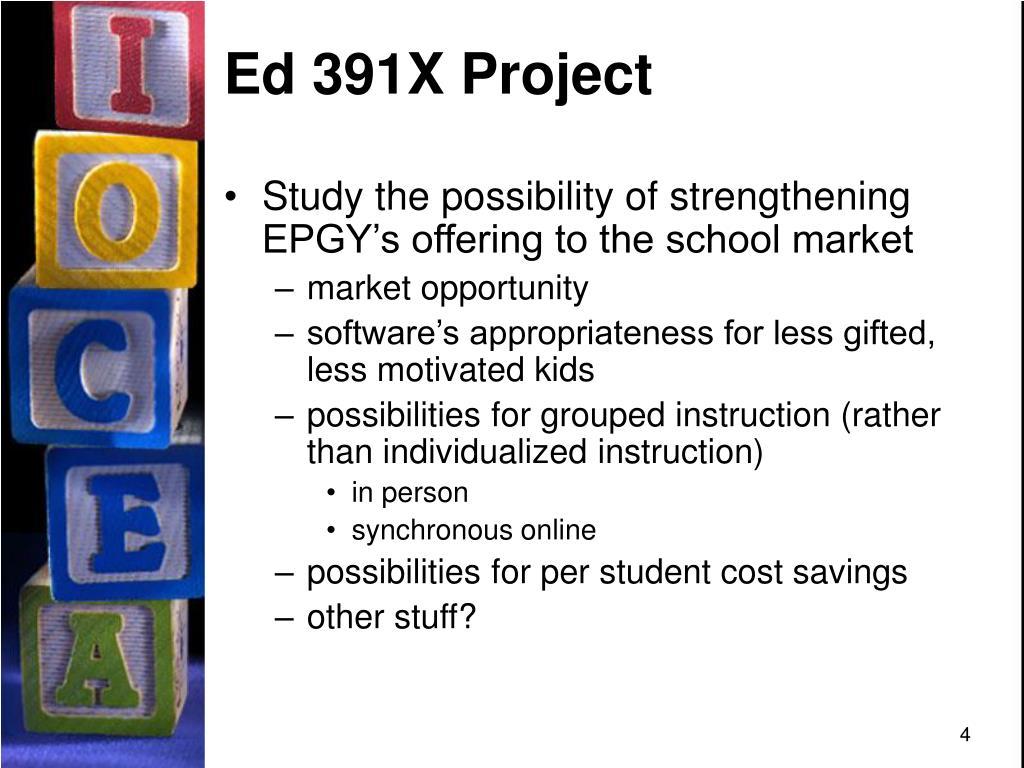 Ed 391X Project
