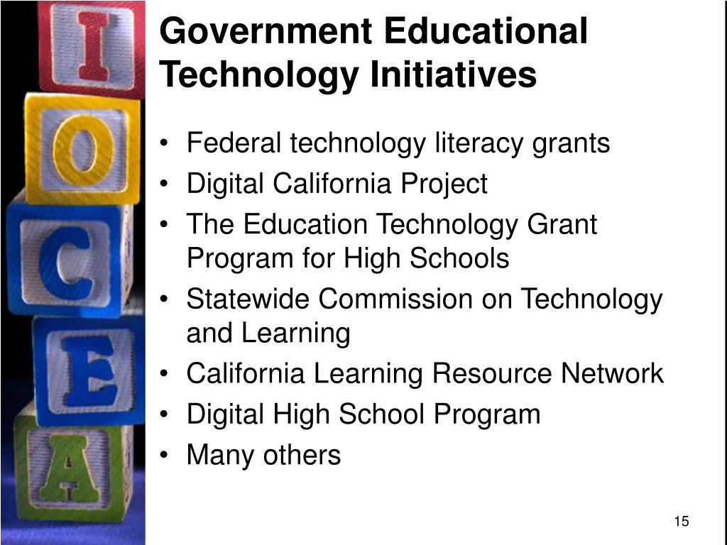 Government Educational Technology Initiatives
