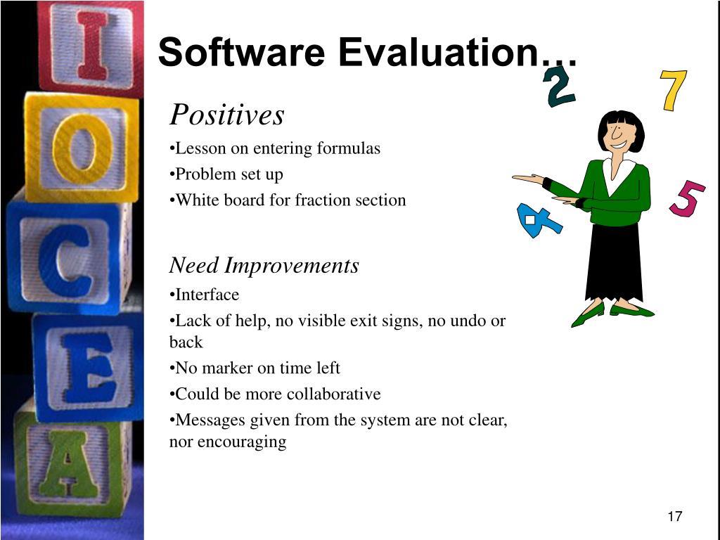 Software Evaluation…