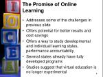 the promise of online learning