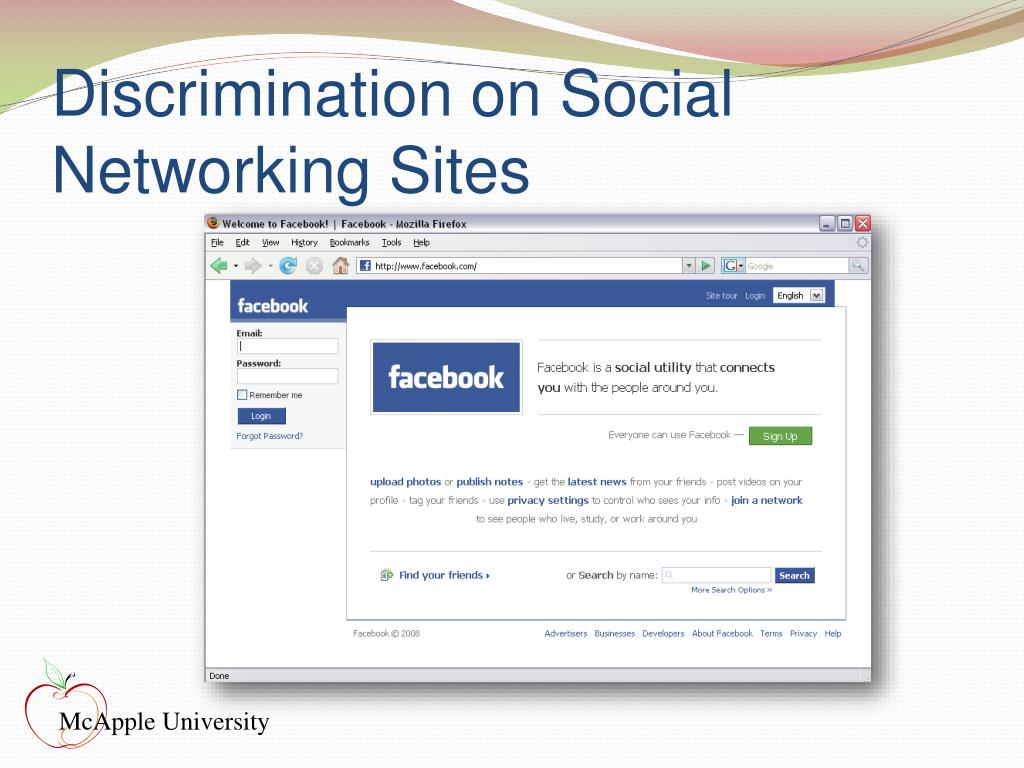 Discrimination on Social Networking Sites