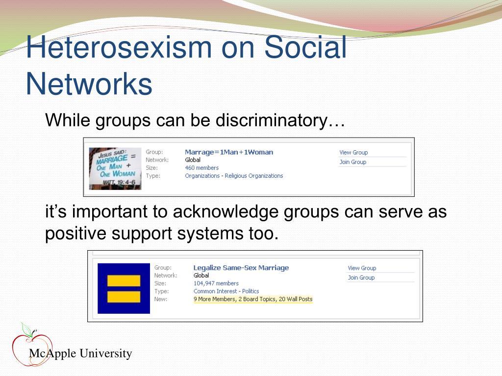 Heterosexism on Social Networks