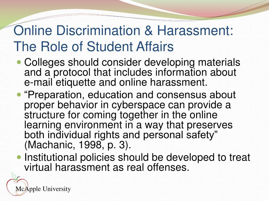 Online Discrimination & Harassment: