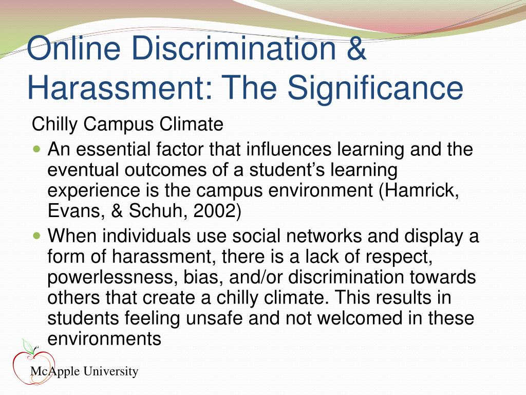 Online Discrimination & Harassment: The Significance