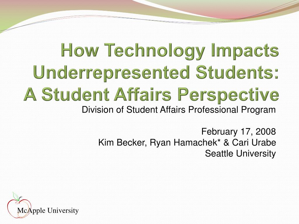 How Technology Impacts Underrepresented Students: