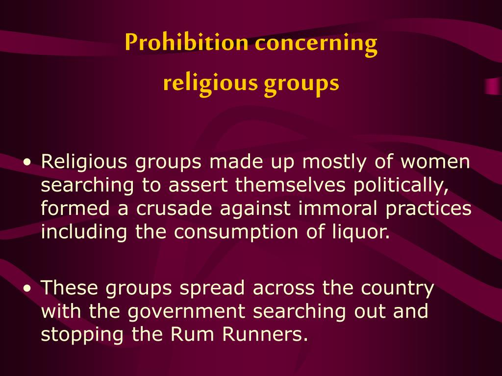 Prohibition concerning