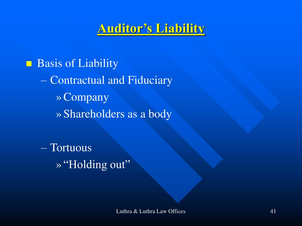 Auditor's Liability
