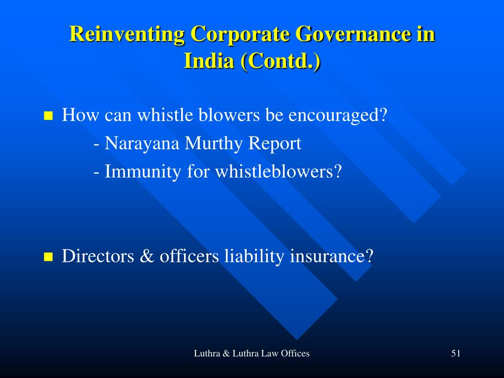 Reinventing Corporate Governance in India (Contd.)