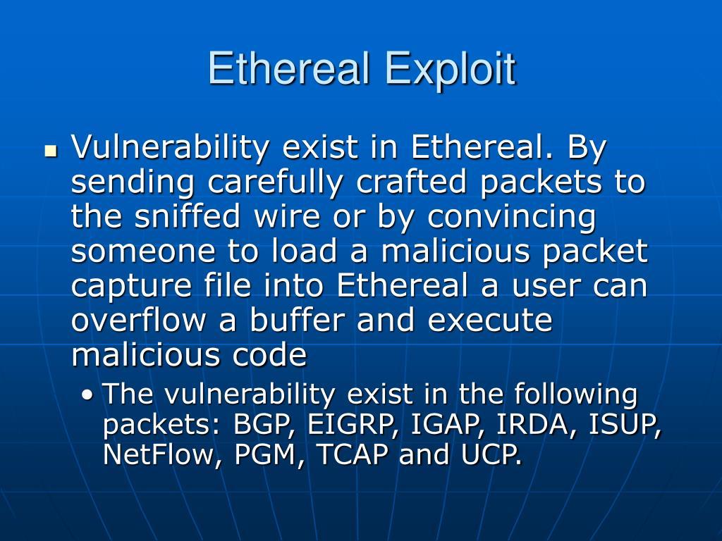 Ethereal Exploit