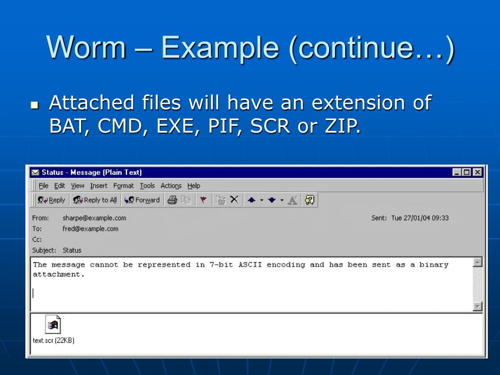 Worm – Example (continue…)