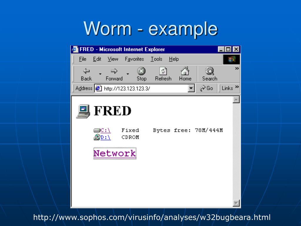 Worm - example