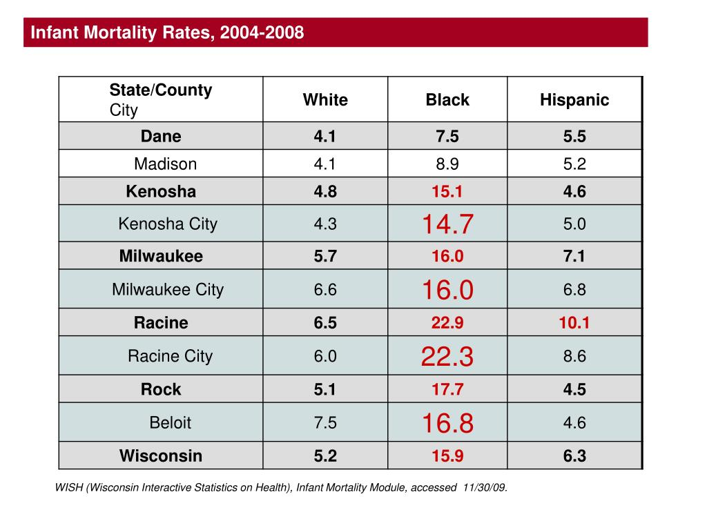 Infant Mortality Rates, 2004-2008