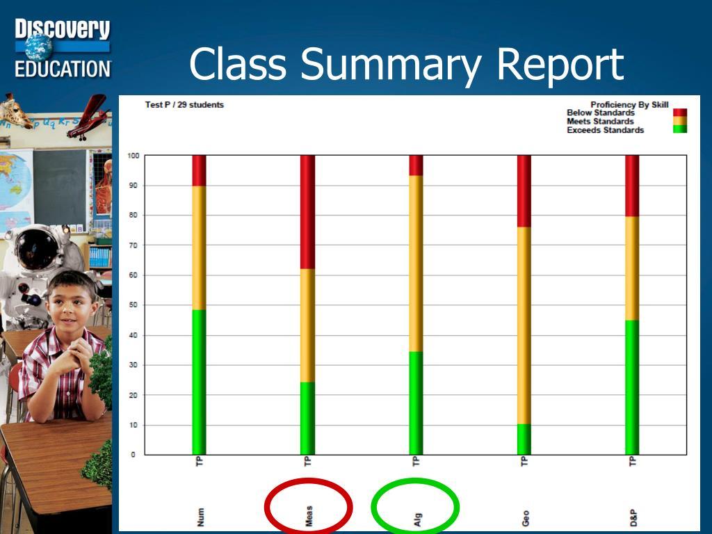 Class Summary Report