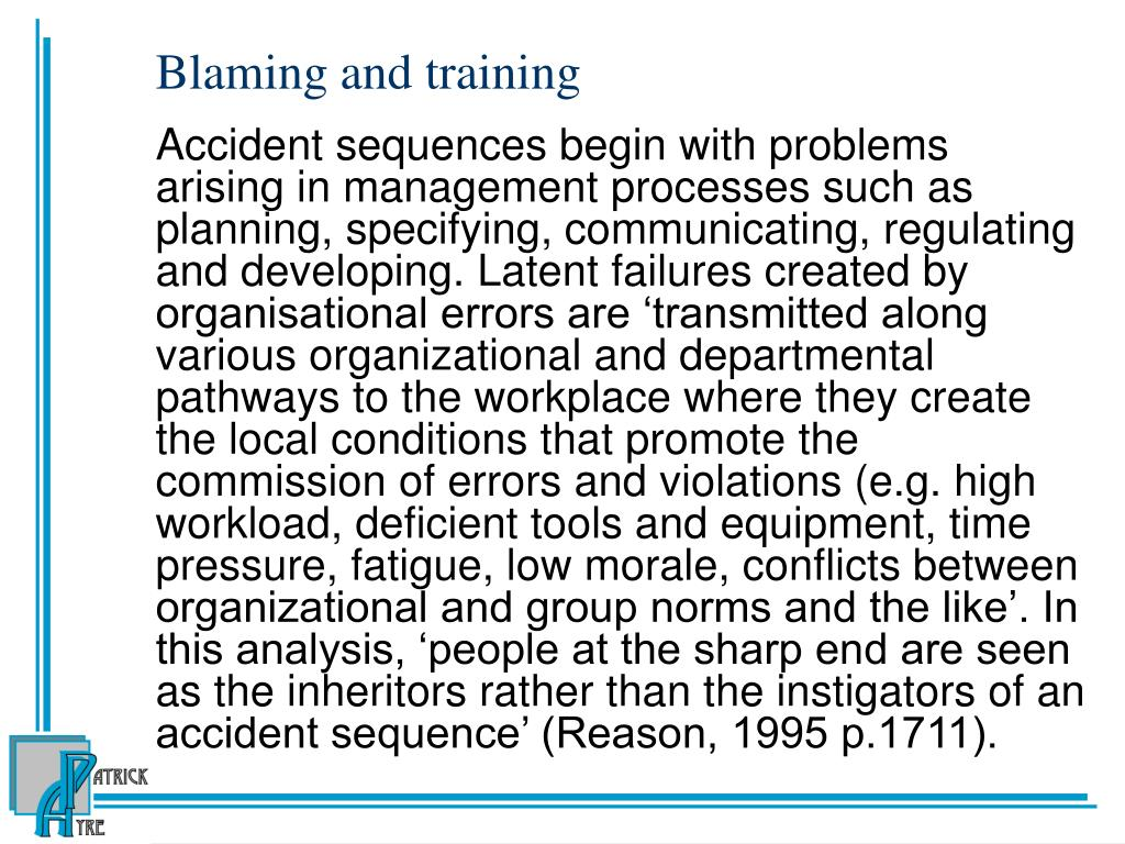 Blaming and training